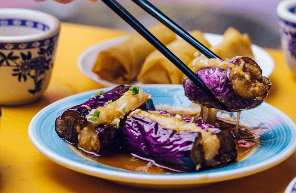 Creamy Walnut-Stuffed Eggplant Rolls